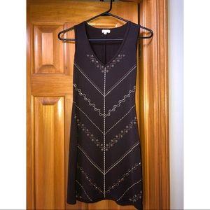 XOXO Brand Sleeveless Dress V Neck Geometric Print